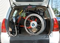ウインチェアで車いすを吊り上げ終わった時 ウインチェアへのリンク 別ウインドウで表示